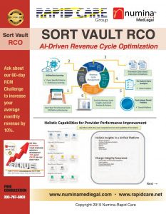 SortVault by Numina-RapidCare Group brochure for revenue cycle optimization